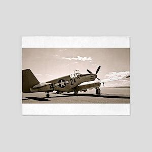 Tuskegee P-51 5'x7'Area Rug