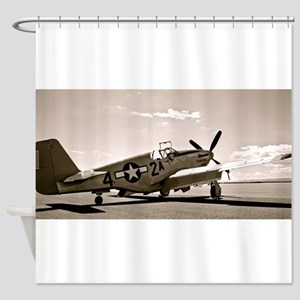 Tuskegee P-51 Shower Curtain