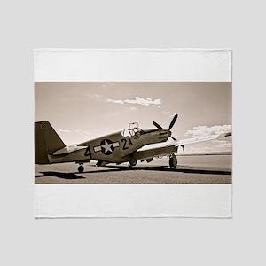 Tuskegee P-51 Throw Blanket