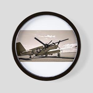 Tuskegee P-51 Wall Clock