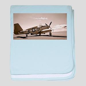 Tuskegee P-51 baby blanket