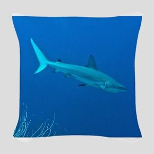 Caribbean Reef Shark Woven Throw Pillow