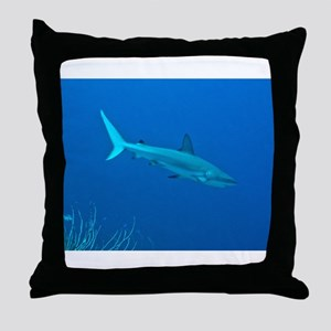 Caribbean Reef Shark Throw Pillow