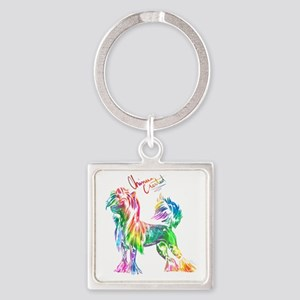 Colorful Chinese Crested Keychains