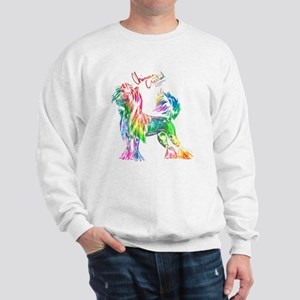 Colorful Chinese Crested Sweatshirt