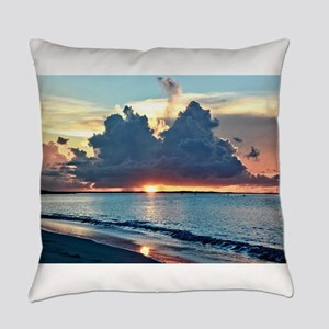 Caribbean Sunset Everyday Pillow