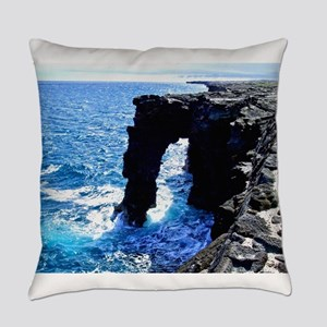 Kona Hawaii Sea Arch Everyday Pillow