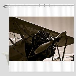 Bi Plane Shower Curtain