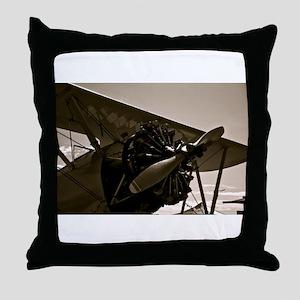 Bi Plane Throw Pillow