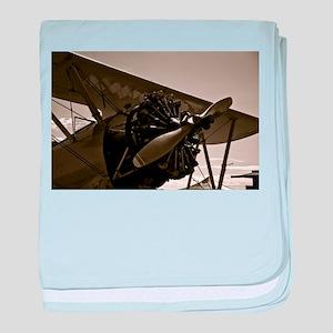 Bi Plane baby blanket
