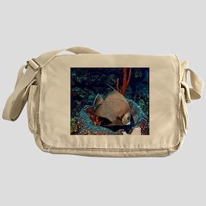 Grey Angelfish Messenger Bag