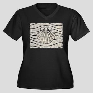 El Camino shell, pavement, Spain Plus Size T-Shirt