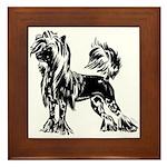 Chinese Crested Dog Framed Tile