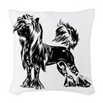 Chinese Crested Dog Woven Throw Pillow