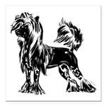 Chinese Crested Dog 3& Square Car Magnet 3&quo