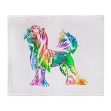 Chinese Crested Dog Throw Blanket