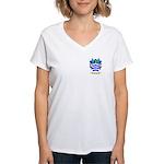 Santoni Women's V-Neck T-Shirt