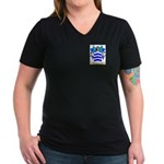 Santin Women's V-Neck Dark T-Shirt