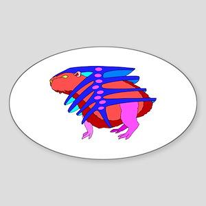 CAPYBARA Oval Sticker