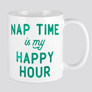 Nap Time Is My Happy Hour Green Mug