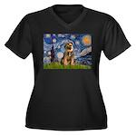 Starry Night / Border Terrier Women's Plus Size V-