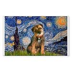 Starry Night / Border Terrier Sticker (Rectangle)