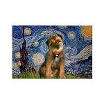 Starry Night / Border Terrier Rectangle Magnet