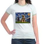 Starry Night / Border Terrier Jr. Ringer T-Shirt