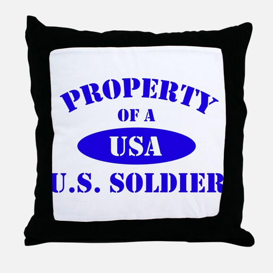 Property of a Soldier Throw Pillow