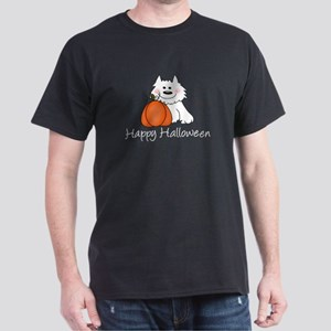 Halloween Puppy & Pumpkin Dark T-Shirt
