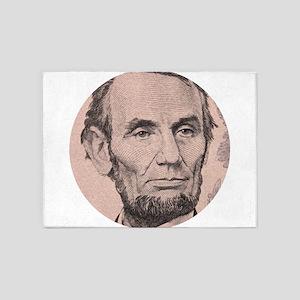 Abraham Lincoln 5'x7'Area Rug