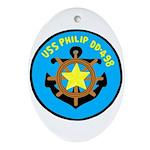USS Philip (DD 498) Oval Ornament