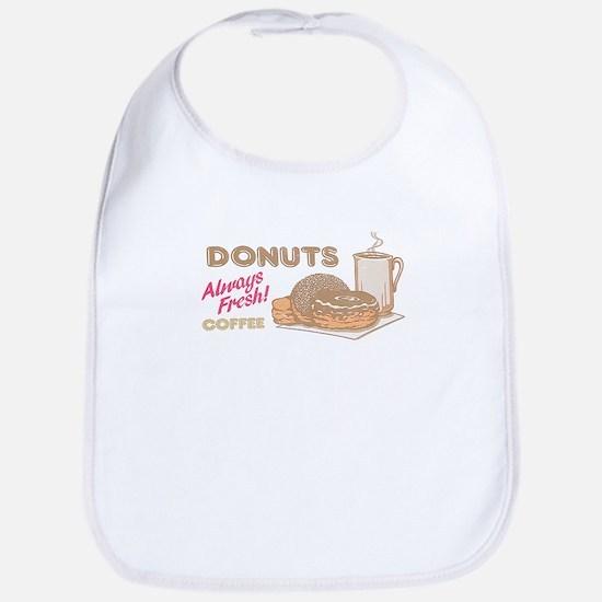Vintage Donuts Baby Bib