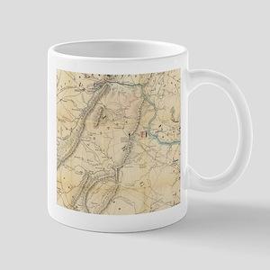 Vintage Map of Loudoun County Battlefields (1 Mugs