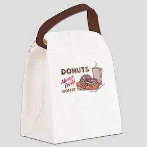Donuts! Always Fresh! Canvas Lunch Bag