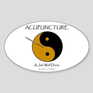 Acupuncture Oval Sticker