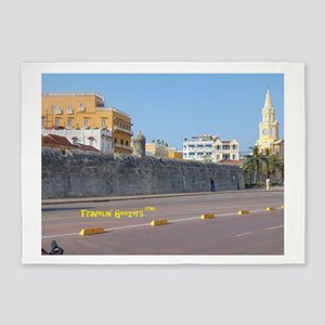 The Walled City of Cartagena 5'x7'Area Rug