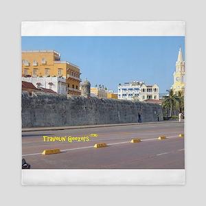 The Walled City of Cartagena Queen Duvet