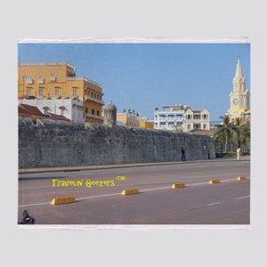 The Walled City of Cartagena Throw Blanket