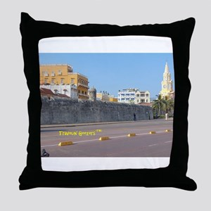 The Walled City of Cartagena Throw Pillow
