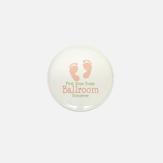 Pink Footprints Ballroom Dancing Mini Button