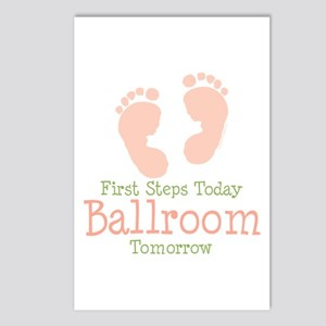 Pink Footprints Ballroom Dancing Postcards 8 Pk