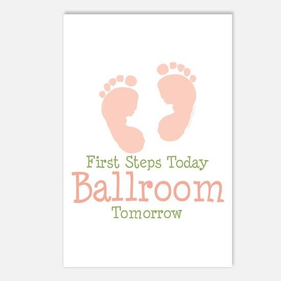 Pink Footprints Ballroom Dancing Postcards 8 Pk