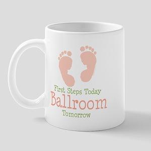 Pink Footprints Ballroom Dancing Mug