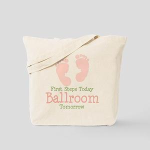 Pink Footprints Ballroom Dancing Tote Bag