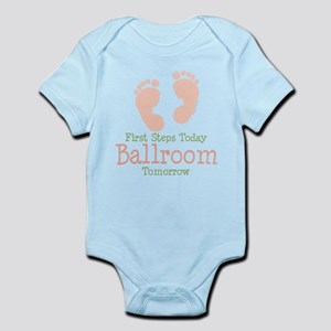 Pink Footprints Ballroom Dancing Infant Onesie