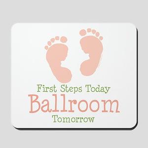 Pink Footprints Ballroom Dancing Mousepad