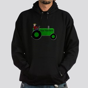 Personalized Green Tractor Hoodie (dark)