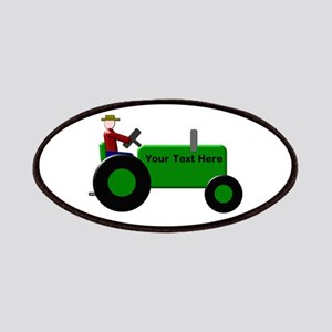 Personalized Green Tractor Patch
