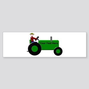 Personalized Green Tractor Sticker (Bumper)